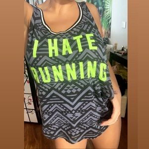 "Victoria Secret PINK ""I hate running"" tank"